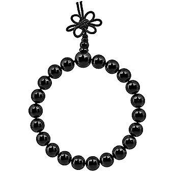 KYEYGWO 21 Mala armband med Chakra pärlor för män och kvinnor, unisex, med Reiki kristallstenar, färg: Black Agate Ref. 0715444069314