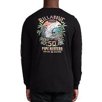 Billabong Pipe Tube Long Sleeve T-Shirt in Black