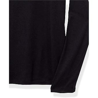 Merk - Daily Ritual Women's Fluid Knit Crewneck Shirt met lange mouwen