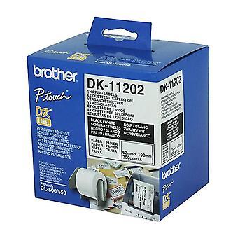 Brother DK11202 300 per roll-valkoinen etiketti
