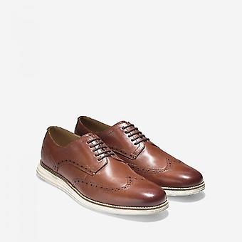 Cole Haan Original Grand Wingtip Oxford Zapatos de cuero para hombre marrón