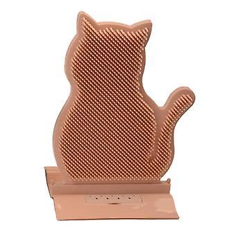 1pc Nova costura fixa cabelo de gato remover cabelo arranhando massagem escova gato arranhar Cat Toys (laranja)