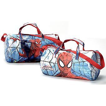 Spiderman - sporttas - weekendtas - 24 cm hoog - blauw/rood