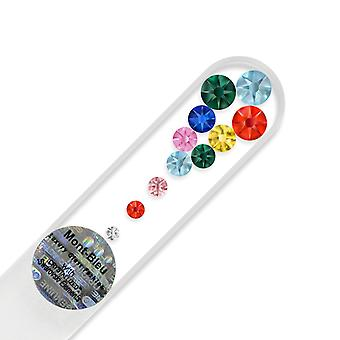 Small glass nail file with Swarovski crystals M-S1-12 - Cayenne Red