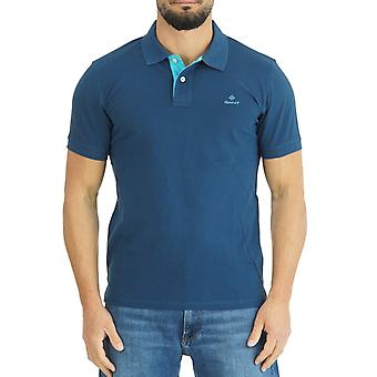 Gant Heren Polo Shirt Contrast Kraag Pique 2052003 461