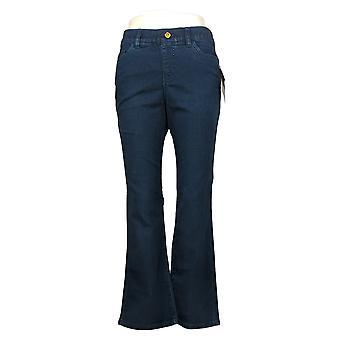 IMAN Global Chic Mujer Petite Jeans Illusion Denim Bootcut Blue 734928L0X