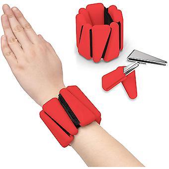 Punainen 2 kpl ranteen paino silikoniranneke säädettävä rannekoru säädettävä rannehihna nilkka voimaharjoittelu ranneke cai1411