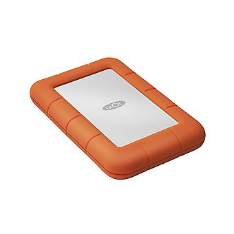 LaCie τραχύ μίνι 1000GB πορτοκάλι, ασημένιος εξωτερικός σκληρός δίσκος