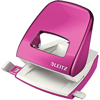 Leitz Hole Punch WOW 5008 Metal 2-hole 30 sheets pink