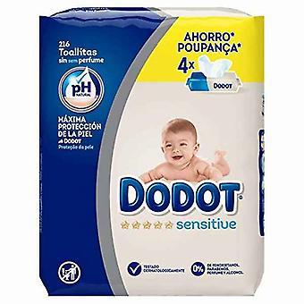 Wipes Sensitive PH Dodot 216 uds