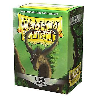 Dragon Shield Lime Matte Card Sleeves - 100 Sleeves