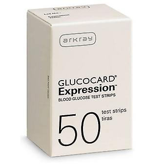 ArkRay Glucocard Expression Teststrip, 50 tellen