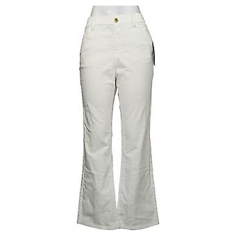 IMAN Global Chic Women's Jeans Pull On Bootcut White 734928100