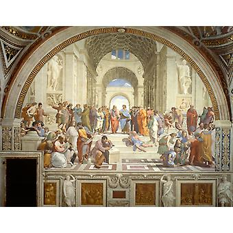 The School Of Athens, Raphael Art Reproduction. Renaissance Style Modern Hd Art Print Poster, Canvas Prints Wall Art For Office Home Decor Pictures