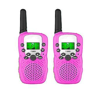 2 Pack Walkie Talkies voor kinderen, tweerichtingsradio's met zaklamp, beste buitenspeelgoed (roze)