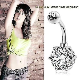 Kvinder Lady Zircon Dekoration Medicinsk Mave Ring Simple Kobber Anti-allergi