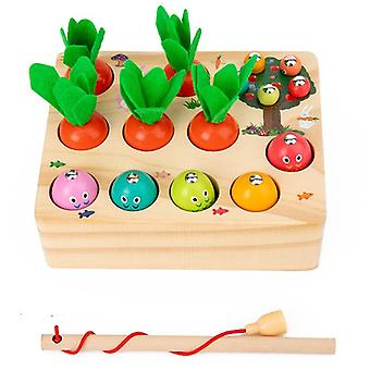 Wooden Toy For Boys Toddler 1 3 Years Old  Preschool Kids Carrot Learning Magnetic  Toys