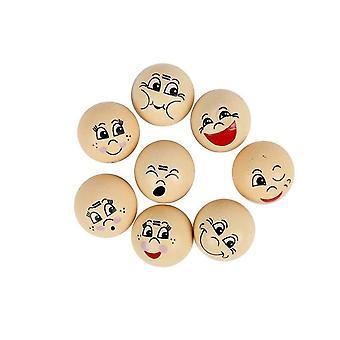 16 assorted 2cm cabeças de madeira para artesanato | Formas de madeira para ofícios