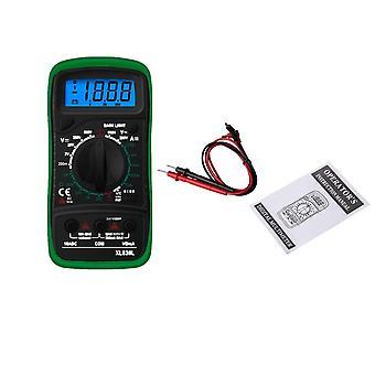 Xl830l handhållen digital multimeter lcd bakgrundsbelysning bärbar ac /dc ammeter voltmeter ohm spänningstestare mätare multimetro