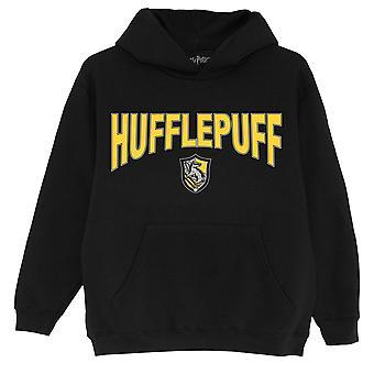 Officiella barn Harry Potter Hoodie Hufflepuff Shield Boys Girls Pullover Tröja