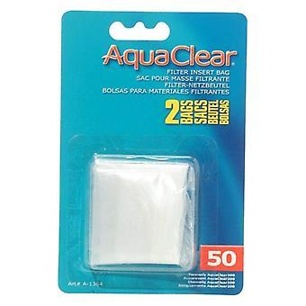 מסנן AquaClear הכנס שקית מדיה ניילון - 50 גלון - 2 ספירה