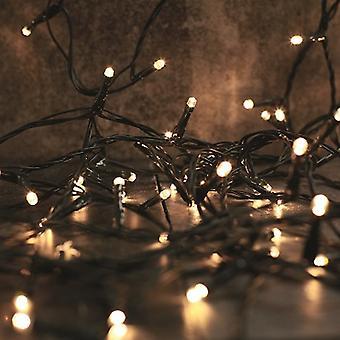 25 ciepłych białych lamp LED zasilanych bateryjnie | Ozdoby świąteczne
