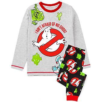 Szellemirtók Pizsama Fiúk Girls | Gyerekek Szürke Fekete Szellemek Monster T-Shirt Hosszú hosszúságú fenék Pjs | Gyermek film merchandise