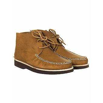 Yogi Footwear Lucas Vibram Leather Lace Up Boots - Tan