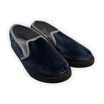 Velvet Slip-on Loafers - Grau(8)