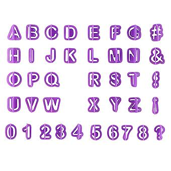 40pcs Alphabet Number Letter Cake & Cookie Pan Mold