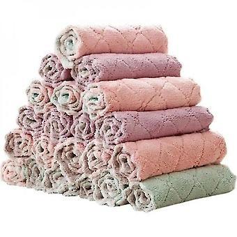10 Pcs Soft Cleaning Cloth Kitchen Towel