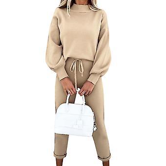Women Sweatshirt Tracksuit Set Pullover Top Trousers Lounge Wear