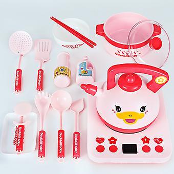Play House Kitchen Toy Simulation Tableware Baby Dishwasher Set Children