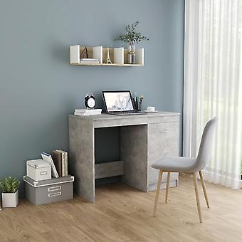 Chunhelife Desk Béton Gris 100x50x76 Cm Aggloméré