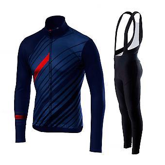 2021 Mænd Cykling Jersey Langærmet Sæt Mtb Bike Tøj Maillot Ropa Ciclismo Hombre Cykel Wear 20d Gel Bib Pants