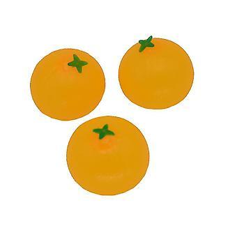 3st Orange Simulation Ångest Relief Leksaker Obruten Squishy Fidget Leksak