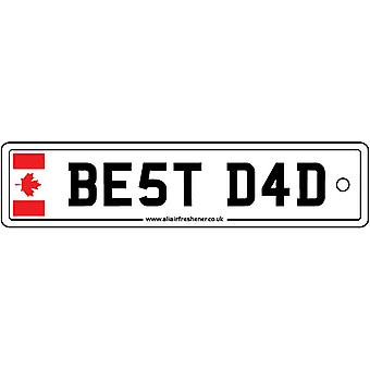 Canada - Best Dad License Plate Car Air Freshener