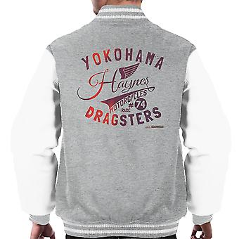 Haynes Brand Yokohama Dragsters Motorcycles Men's Varsity Jacket