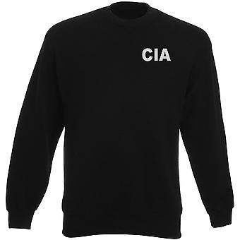 CIA: N Central Intelligence Agency teksti brodeerattu Logo - raskaansarjan pusero