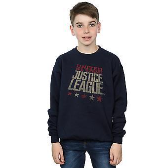 DC Comics Jungen Justice League Film vereint stehen wir Sweatshirt