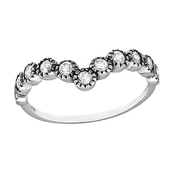 Circle - 925 Sterling Silver + Cubic Zirconia Cubic Zirconia Rings - W32342X
