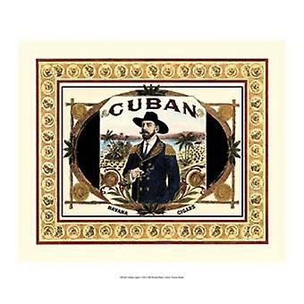 طباعة ملصق السيجار الكوبي برؤية استوديو (17 × 14)