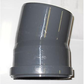 Dei rifiuti raccordi push-fit - piegano - 15 gradi - 50mm di diametro