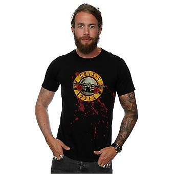 Guns sangue Splatter t-shirt N Roses masculino