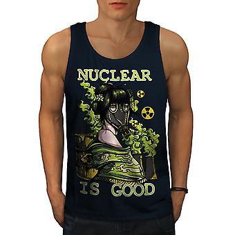 Atomkraft ist guter Horror Männer NavyTank Top | Wellcoda