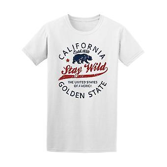California Stay Wild Golden Tee Männer-Bild von Shutterstock