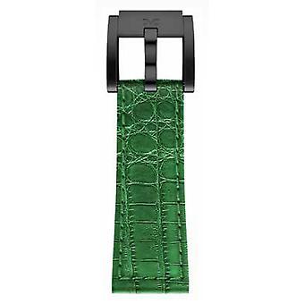 TW Steel Marc Coblen Bracelet Watch band 22 MM Croco cuir noir vert LB_DG_K_B