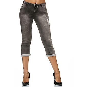 Naisten shortsit lenkkeily denim hiki farkut Jogger pants 3/4 Capri-housut Joggdenim