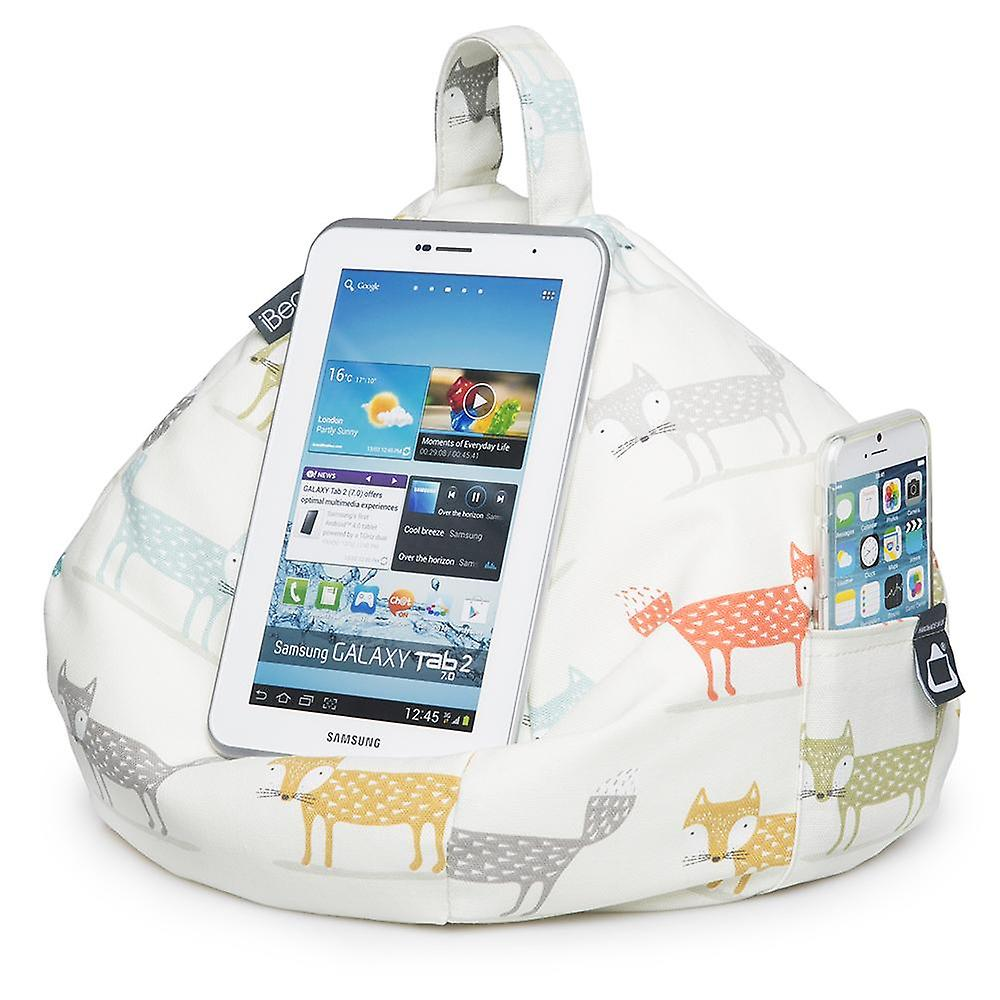 Ipad, tablet & ereader bean bag stand by ibeani - foxy
