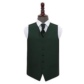 Verde Oscuro Sólido Cheque Chaqueta de Boda & Conjunto Cravat